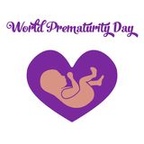 World prematurity day Stock Image