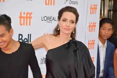 World Premiere of `First They Killed My Father` with Director Angelina Jolie at Toronto International Film Festival Royalty Free Stock Photo