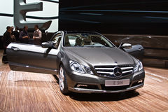 World premiere of new Mercedes-Benz E 500 coupe Royalty Free Stock Image