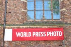 World Press Foto unterzeichnen Naarden, die Niederlande Stockfotografie