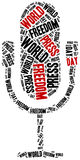 World press freedom day. Celebrated on 1st May. Royalty Free Stock Images