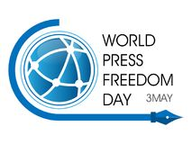 World Press Freedom Day. On May 3 background Stock Photos