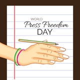 World Press Freedom Day. Vector illustration of a background for World Press Freedom Day stock illustration