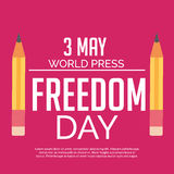 World Press Freedom Day. Royalty Free Stock Photos