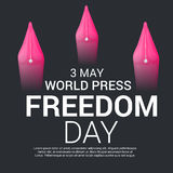 World Press Freedom Day. Royalty Free Stock Images