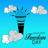 World Press Freedom Day. Vector illustration of a Banner for World Press Freedom Day Royalty Free Stock Photo