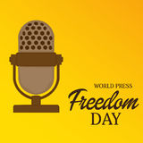 World Press Freedom Day. Vector illustration of a Banner for World Press Freedom Day Royalty Free Stock Photos