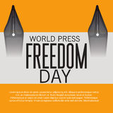 World Press Freedom Day. Vector illustration of a Banner for World Press Freedom Day Stock Photos