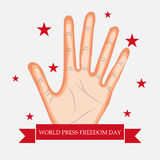 World Press Freedom Day. Vector illustration of a Banner for World Press Freedom Day Stock Photo