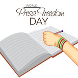 World Press Freedom Day. Vector illustration of a Banner for World Press Freedom Day Stock Image