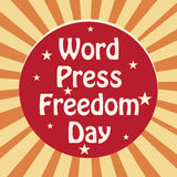 World Press Freedom Day. Vector illustration of a Banner for World Press Freedom Day Royalty Free Stock Images