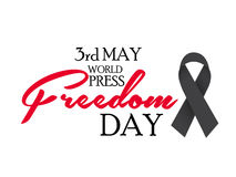 World Press Freedom Day. Vector illustration of a Banner for World Press Freedom Day Stock Photography