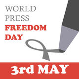 World press freedom day. Vector illustration. 3rd may Stock Image
