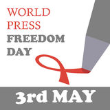 World press freedom day. Vector illustration. 3rd may Royalty Free Stock Photography