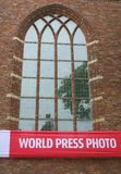 Yearly World Press Photo exhibition in the Big Church, Naarden, Netherlands  Royalty Free Stock Images