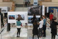 World Press Photo exhibition in Budapest Royalty Free Stock Photo