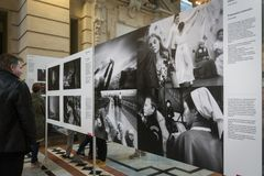 World Press Photo exhibition in Budapest Stock Images