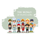 The world of professions. In vector format Royalty Free Stock Photography