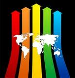 World progress. Image business background template Royalty Free Stock Photos