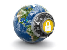 World Protection (clipping path included) Royalty Free Stock Image