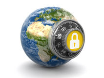 World Protection (clipping path included) Stock Photo