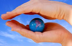 World protection in Your Hands Royalty Free Stock Image