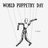 World Puppetry day Stock Images