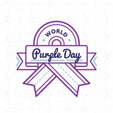 World Purple day greeting emblem Royalty Free Stock Photos