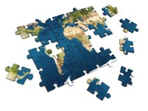 World puzzle Stock Images