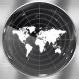 World Radar Screen Stock Image