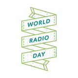World Radio day greeting emblem Stock Photography
