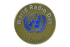 The international celebration of the United Nations, World Radio. World Radio Day, the international holiday of the United Nations, is celebrated on 13 February Stock Photography