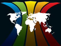 World and rainbow Stock Image