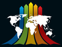 World and rainbow Stock Photos