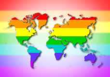 World - Rainbow flag pattern Stock Photo