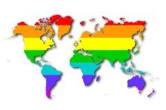 World - Rainbow flag pattern Royalty Free Stock Photography
