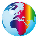 World rainbow (vector) Royalty Free Stock Images