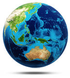World real relief, modified maps Royalty Free Stock Image