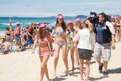 World Record bikini parade in Gold Coast Royalty Free Stock Photo