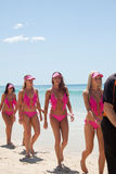 World Record bikini parade in Gold Coast Stock Photography