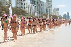 World Record bikini parade in Gold Coast Royalty Free Stock Photography