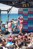 World Record bikini parade in Gold Coast Stock Photos