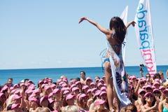 World Record bikini parade in Gold Coast Stock Image
