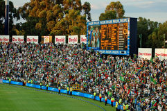 World Record Cricket. Image of World Record scoreboard at Wanderers Cricket stadium, Johannesburg South Africa, in a match between Australia and South Africa Royalty Free Stock Photos