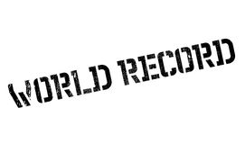 World Record rubber stamp Royalty Free Stock Photo