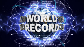 WORLD RECORD Text and Earth, Rendering, Graphics Background Stock Images