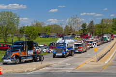 World Record Truck Convoy in Lancaster PA Royalty Free Stock Images