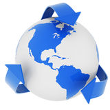 World and recycle symbol Royalty Free Stock Photography