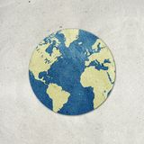 World recycled paper craft Royalty Free Stock Photos