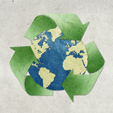 World recycled paper craft Stock Image